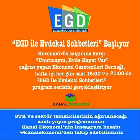 EGD ile EvdeKal Sohbetleri'ne yoğun ilgi