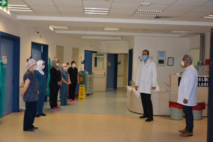PAU Hastaneleri Yonetiminden Hemsirelere Ziyaret