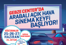 Gebze Center AVM'de Arabali Acikhava Sinemasi