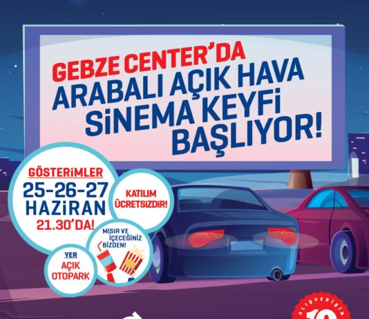 Gebze Center AVM'de Arabali Acikhava Sinemasi