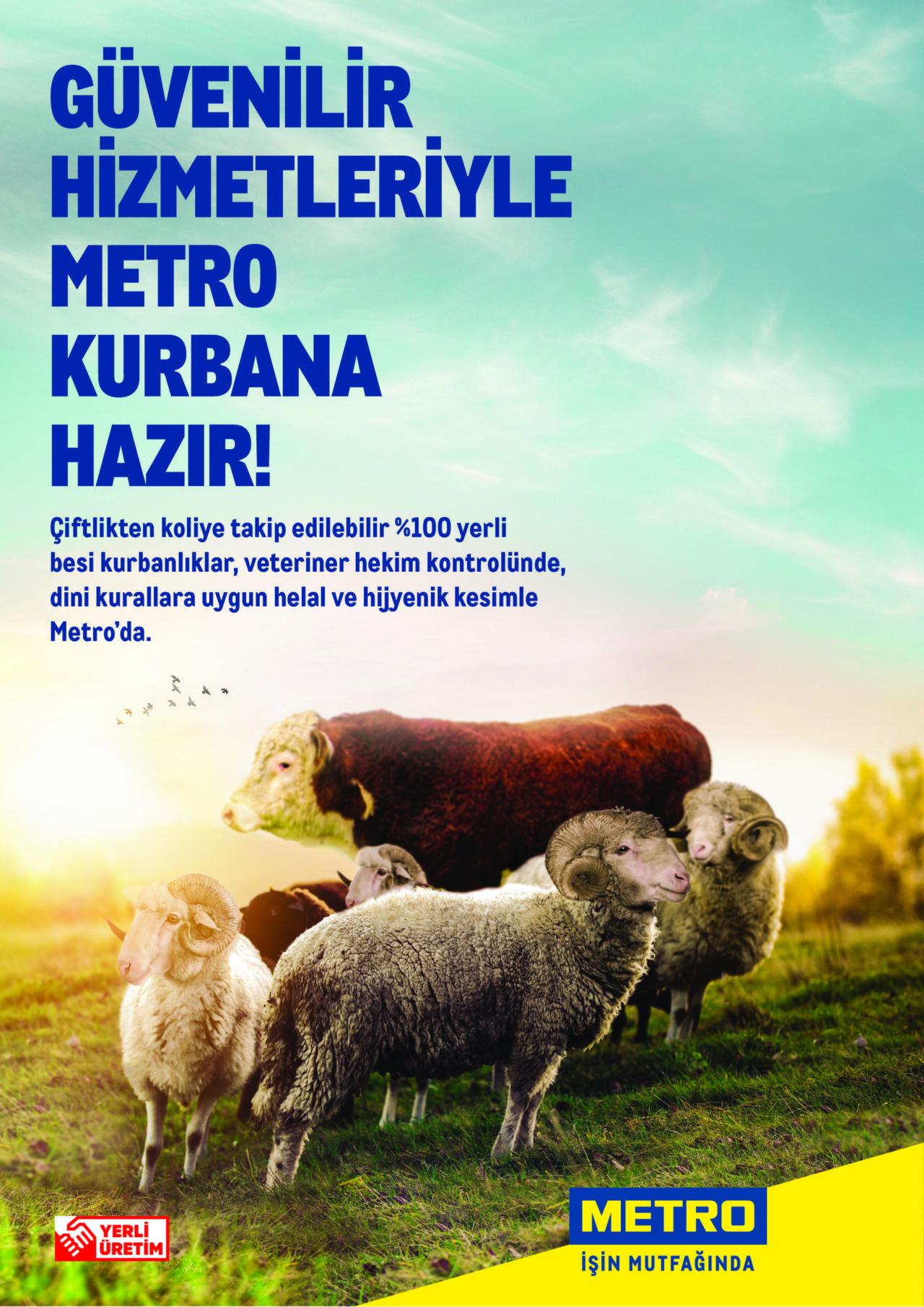 Metro Türkiye'de İzlenebilir Kurbanlik Satisları Basladi