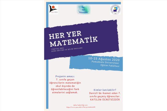 """PAu'de """"Her Yer Matematik"""" Projesi İcin Basvurular Basladi"""