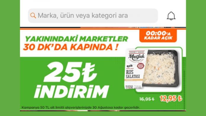 Trendyol'un Online Market ozelligi Hizli Market Kullanima Acildi